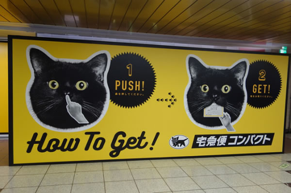 giant black cat sign