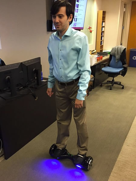 shkreli on scooterboard