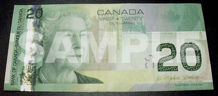canadian 20 bill