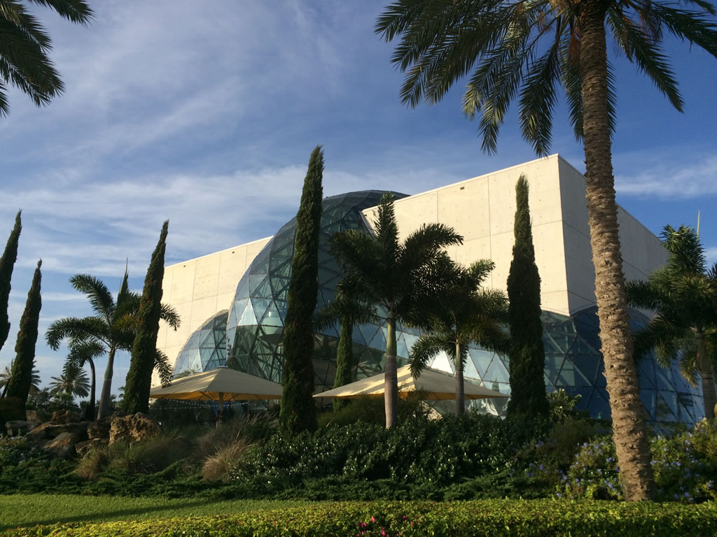 Front of the Salvador Dali Museum, ST. Petersburg, Florida