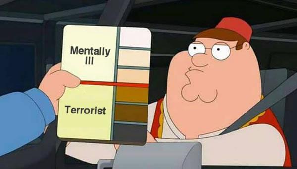 mentally ill vs terrorist
