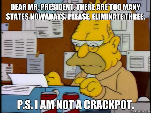 grampa simpson - i am not a crackpot