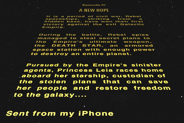 special edition opening crawl
