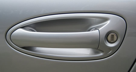 A car door handle.