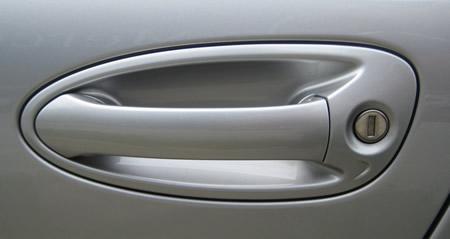 A car door handle.