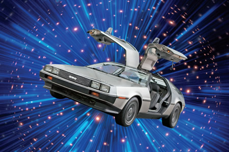 The time-traveling DeLorean from 'Back to the Future'.