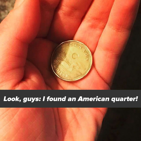 look i found an american quarter