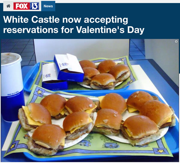 white castle - valentine's day
