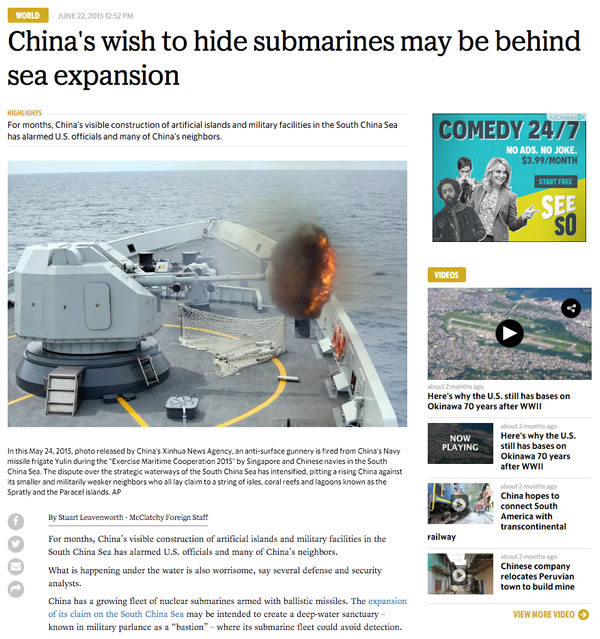 china hiding submarines