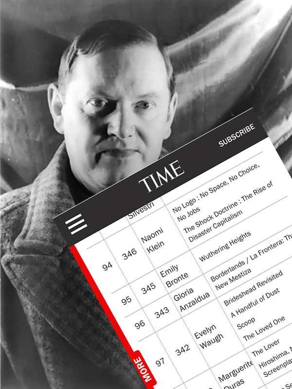 evelyn waugh mistaken for woman