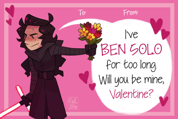 Youll love these adorable Star Warsthemed Valentines Day cards – Star Wars Valentines Day Cards