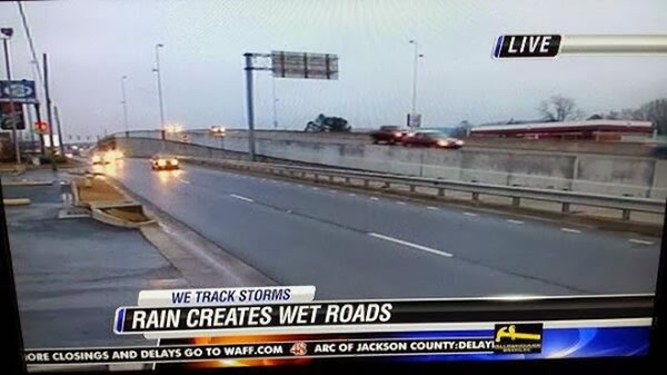 rain creates wet roads