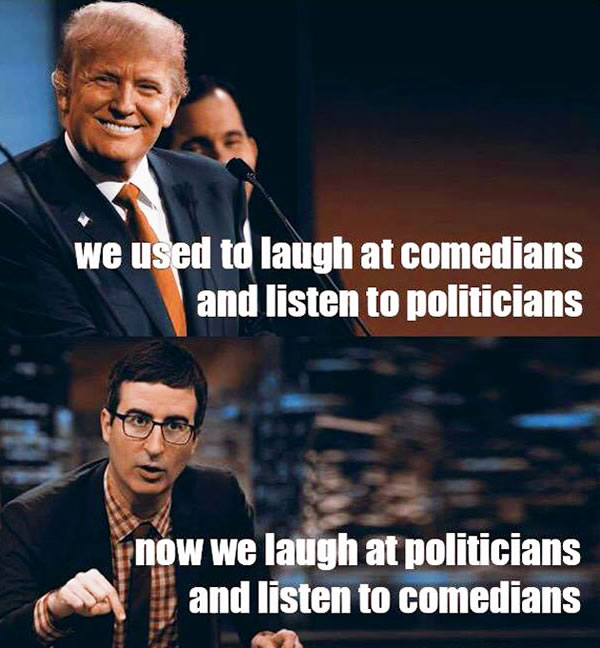 truth politicans comedians