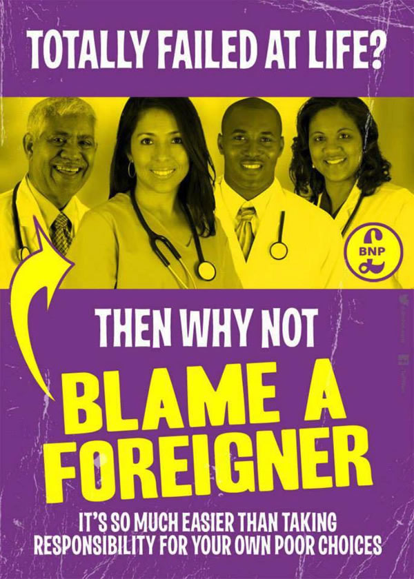 blame a foreigner poster 2