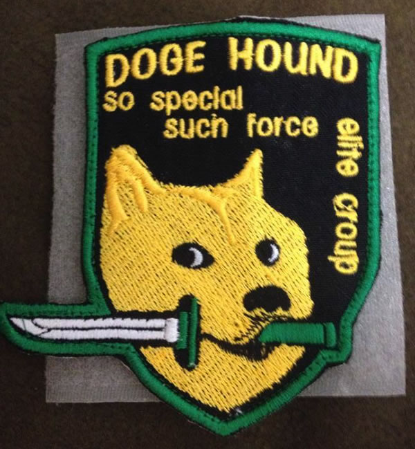 doge hound so special much force patch