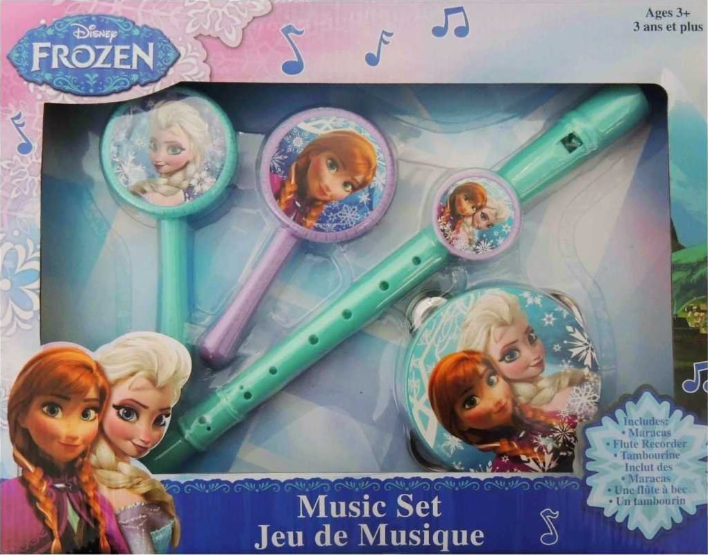 frozen recorder tambourine and maracas