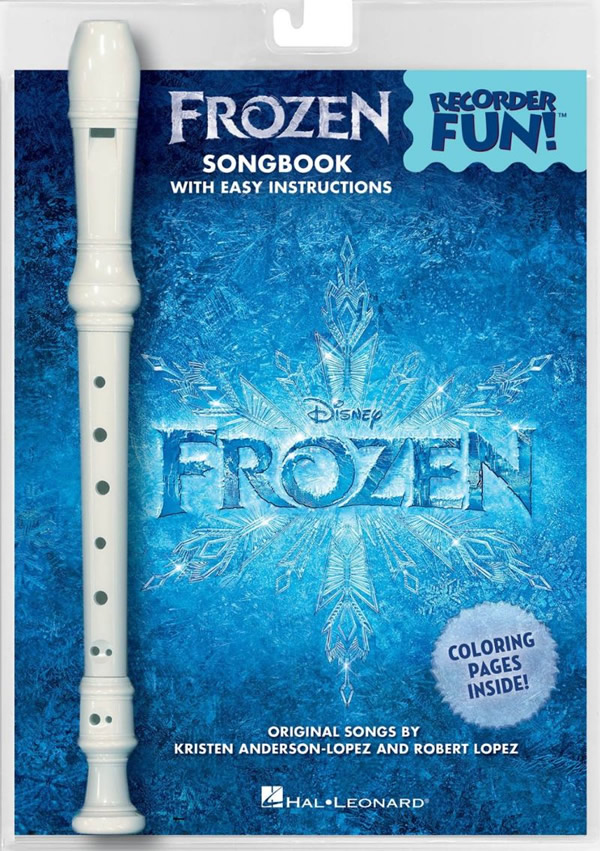frozen songbook and recorder