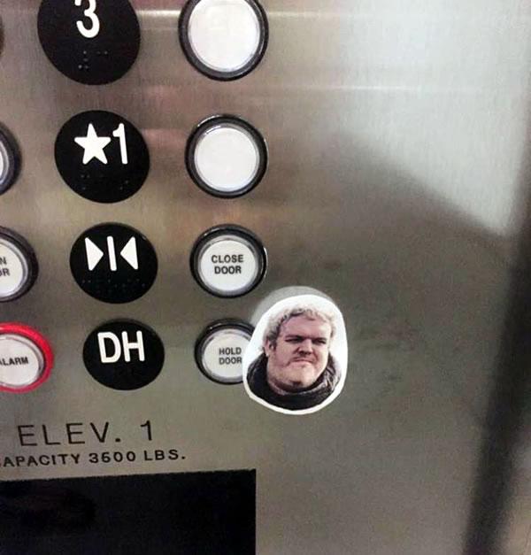 hodor elevator button