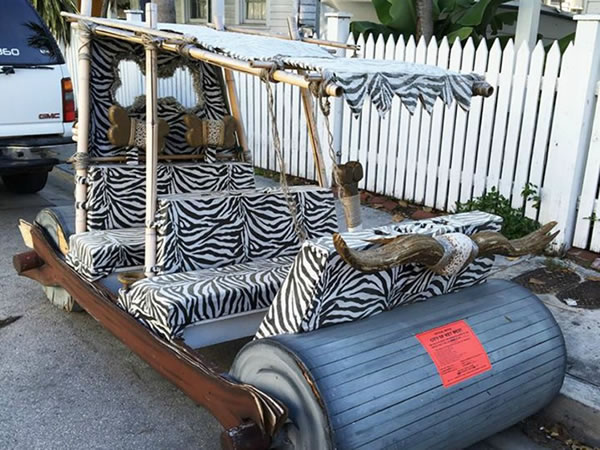 key west flintstones car