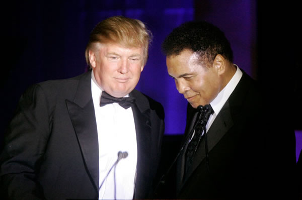 donald trump and muhammad ali 2007
