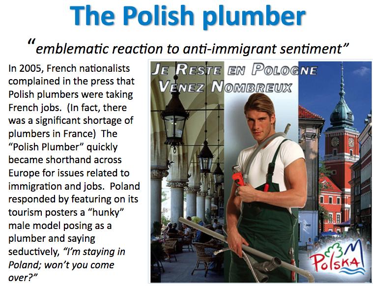 polish plumber slide