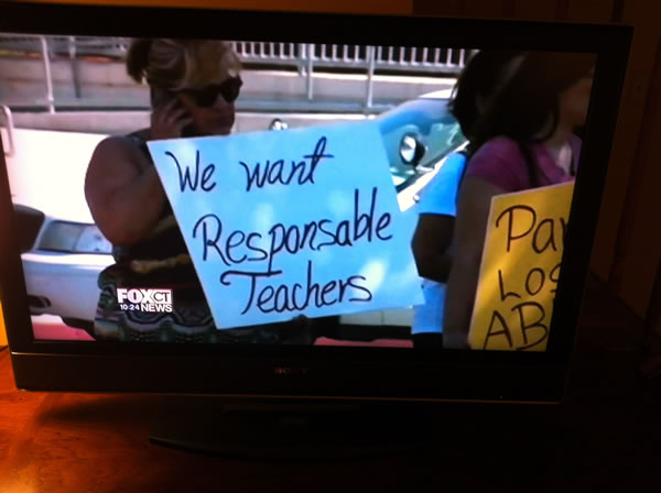 we want responsable teachers