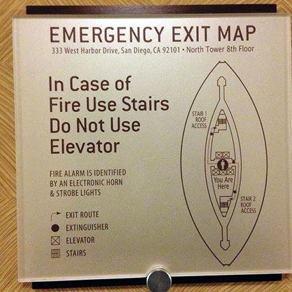freudian emergency exit map
