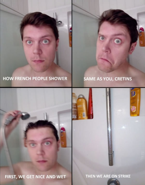 how the french shower