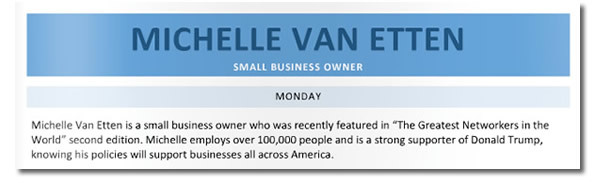 michelle van etten - small business owner