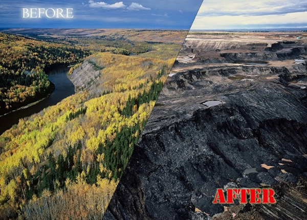 oil sands before after