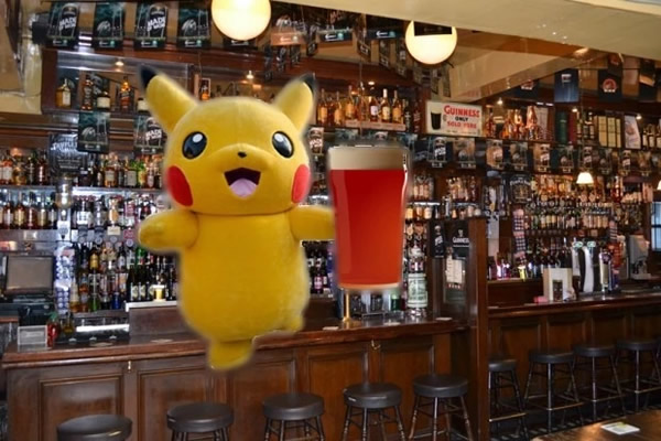 pikachu at a pub
