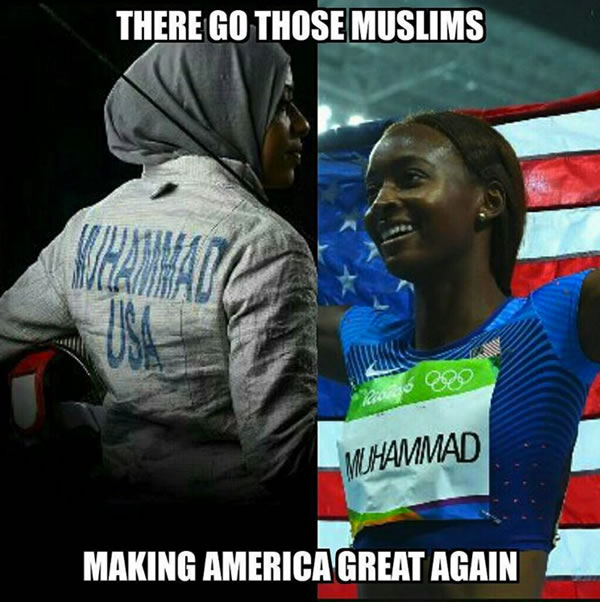 there go those muslims making america great again