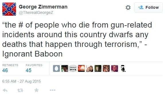 zimmerman baboob tweet