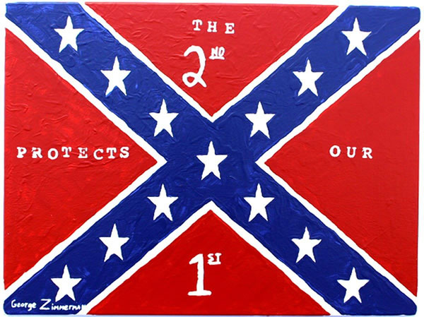 zimmerman confederate flag painting