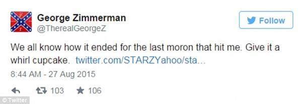 zimmerman last moron who hit me