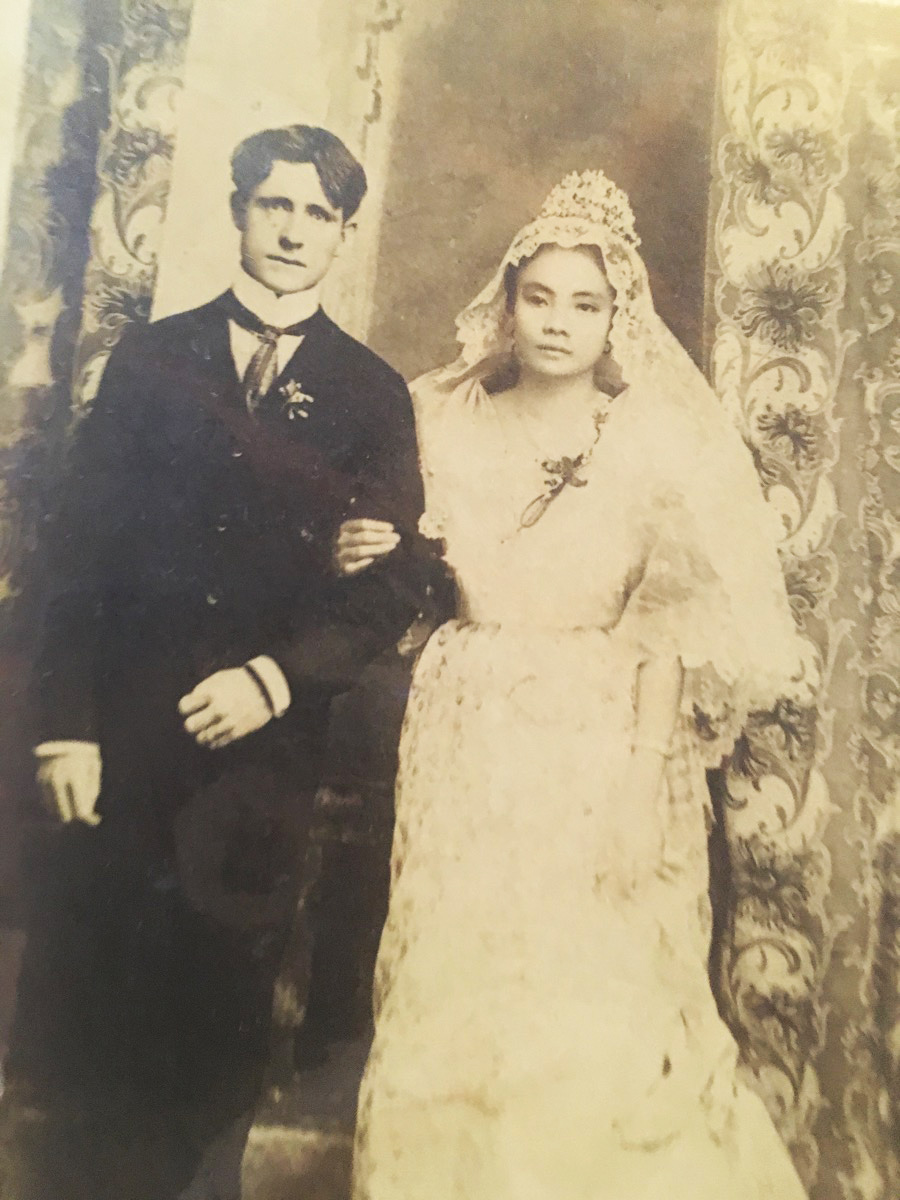 James O'Hara and his wife at their wedding.