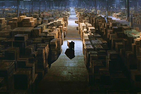 Photo: The final shot from 'Raiders of the Lost Ark', where the Ark of the Covenant is put into storage in a giant warehouse, presumably never to be found again.