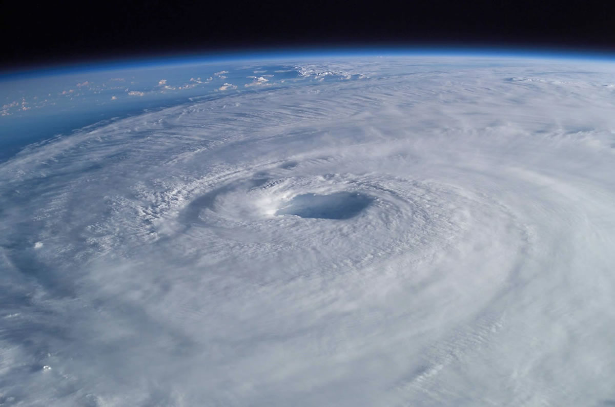 Hurricane Irma, as seen from space.