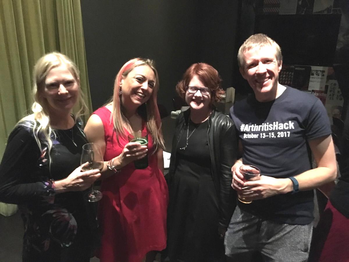 June Matte, Maria Davo, Natalie Brahan, and James Agnew.