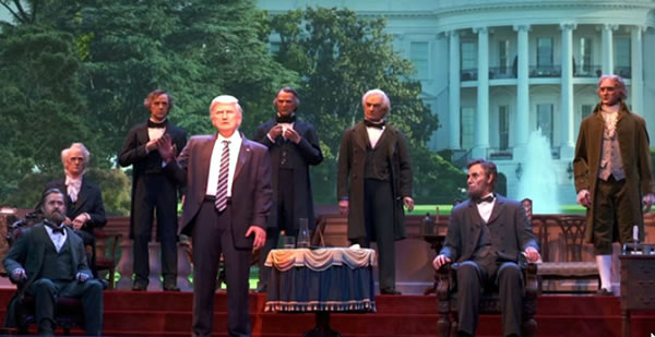 Florida of the day audio animatronic trump is more inspiring and watch the video below and be amazed at how inspiring and coherent and non racist the newly installed audio animatronic version of donald trump at ccuart Gallery