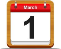 Illustration: Calendar showing March 1