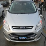 C-MAX Energi front view, plugged into charger