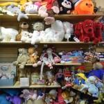 Shelves of plush dolls
