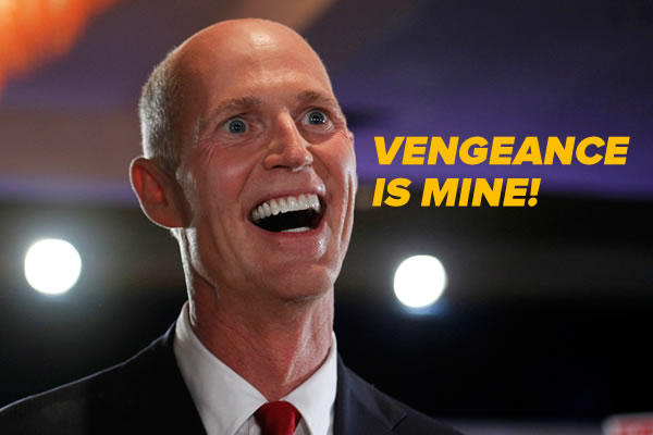 Rick Scott, flashing his biggest, most Skeletor-like smile