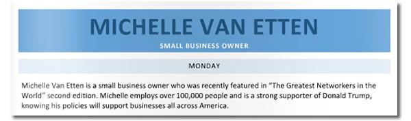 michelle van etten - small business owner