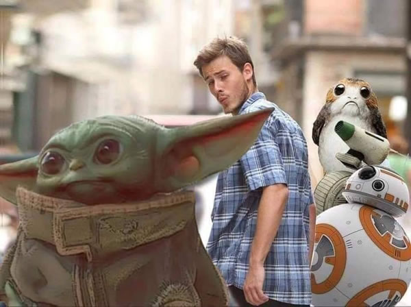 Distracted Boyfriend Meets Baby Yoda The Adventures Of Accordion Guy In The 21st Century