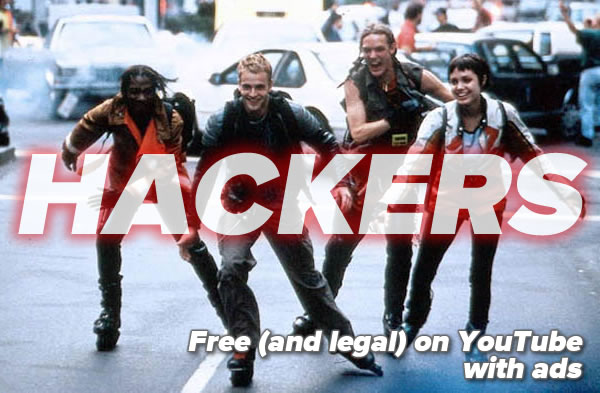 "Still from the fim ""Hackers"" where the titular hackers are rollerblading through the streets of Manhattan"