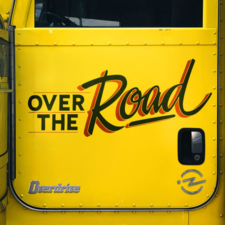 "Photo: ""Over the Road"" podcast logo — Yellow truck door labeled ""Over the Road"""