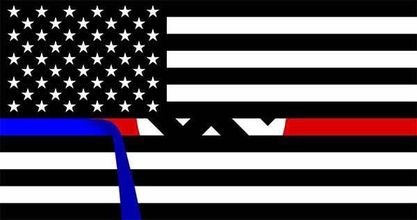 "Graphic: Peel the blue line off a ""Thin blue line"" flag and you'll reveal the Nazi flag."