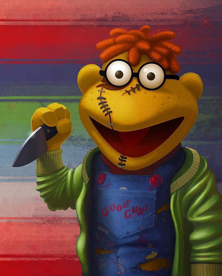 "Painting: Scooter as Chucky (Jason Beck's ""Muppet Maniacs"" series)"
